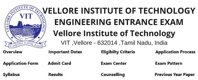 Vellore Institute of Technology entrance test examination admission provider